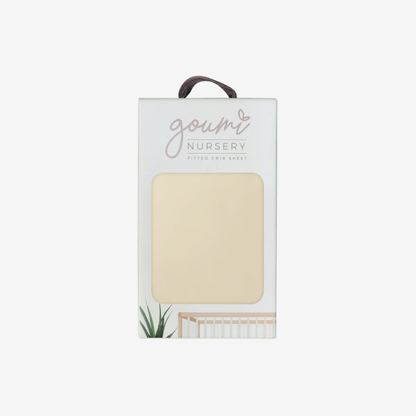 Bamboo + Organic Cotton Crib Sheet - Soybean