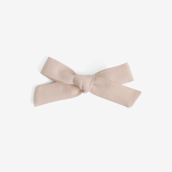 School Girl Hair Bow - Blush Organic