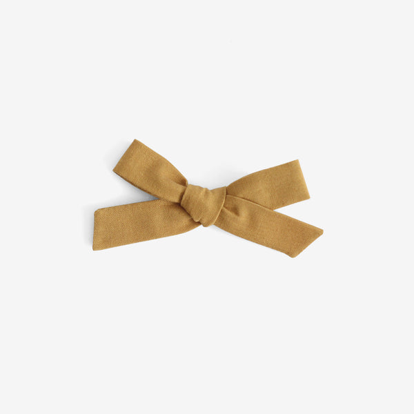 School Girl Hair Bow - Rylee & Cru Mustard