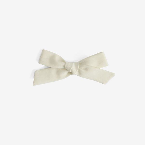 School Girl Hair Bow - Vanilla