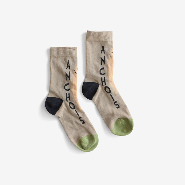Anchovy Cotton Crew Socks