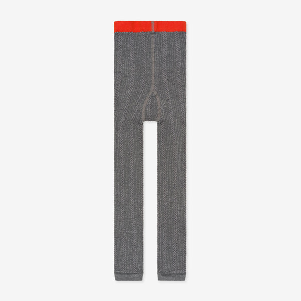 Nico Nico Riser Cable Organic Legging - Heather Grey