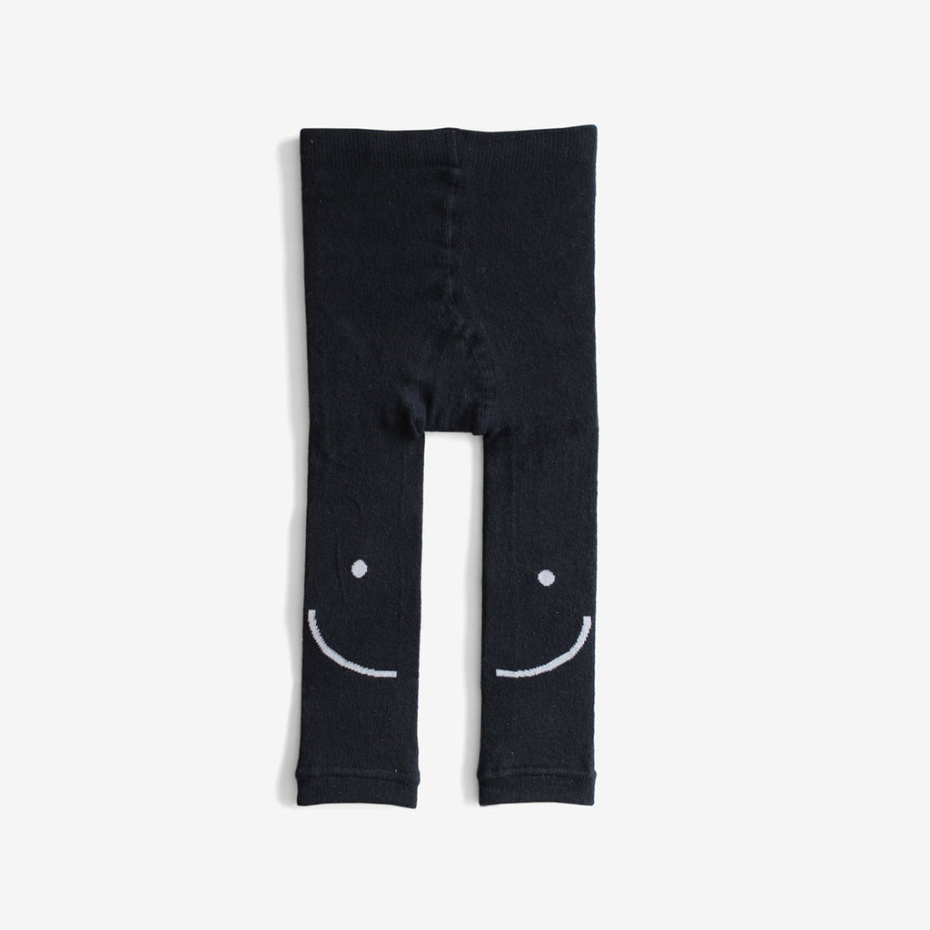 Smiley Organic Cotton Leggings - Navy