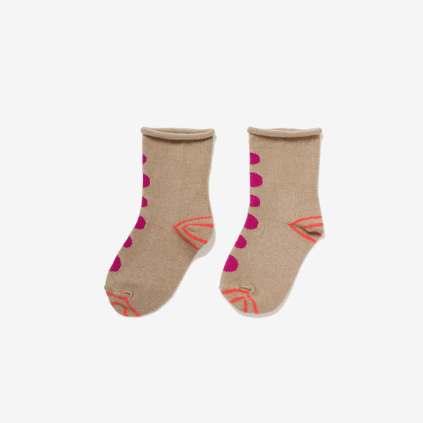 Mini Thumbprint Crew Socks