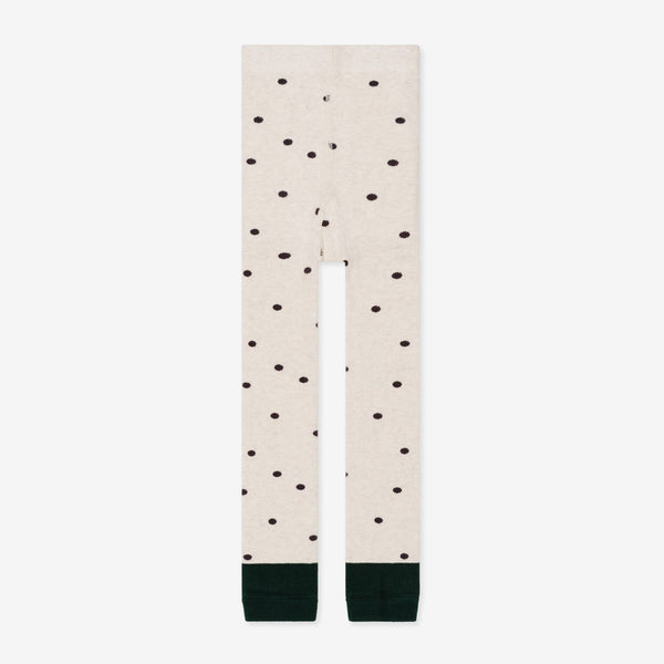 Mini Spotty Organic Legging - Oatmeal