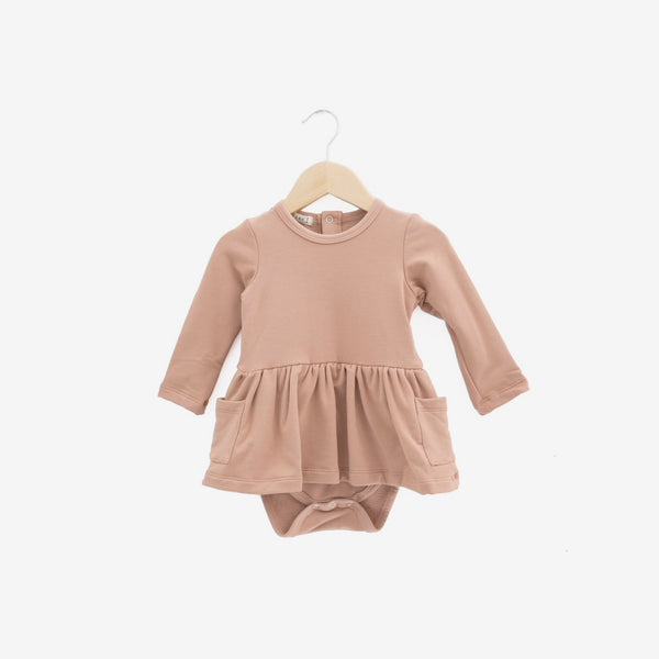 Savanna Bamboo Baby Dress Onesie - Tuscany