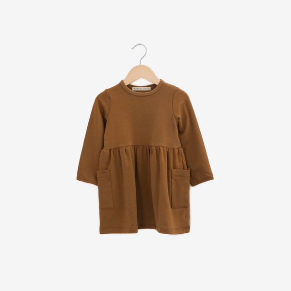 Savanna Bamboo French Terry Dress - Hazelnut