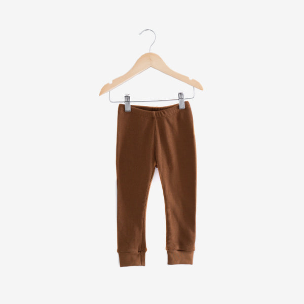 Waffle Thermal Cotton/Modal Legging - Toffee