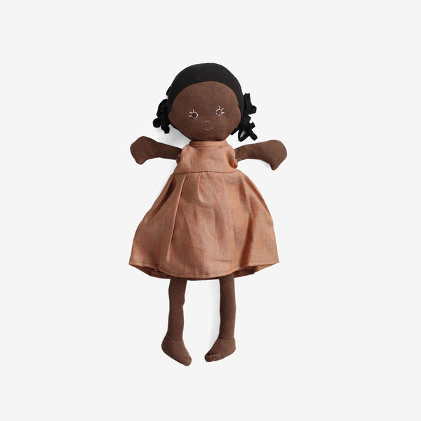 Ada Dolly in Clay Linen Dress