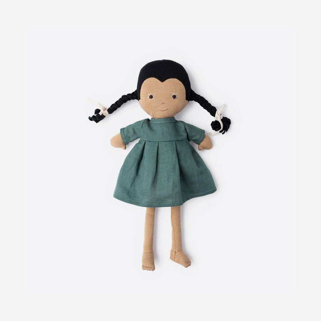 Celia Dolly in River Green Linen Dress