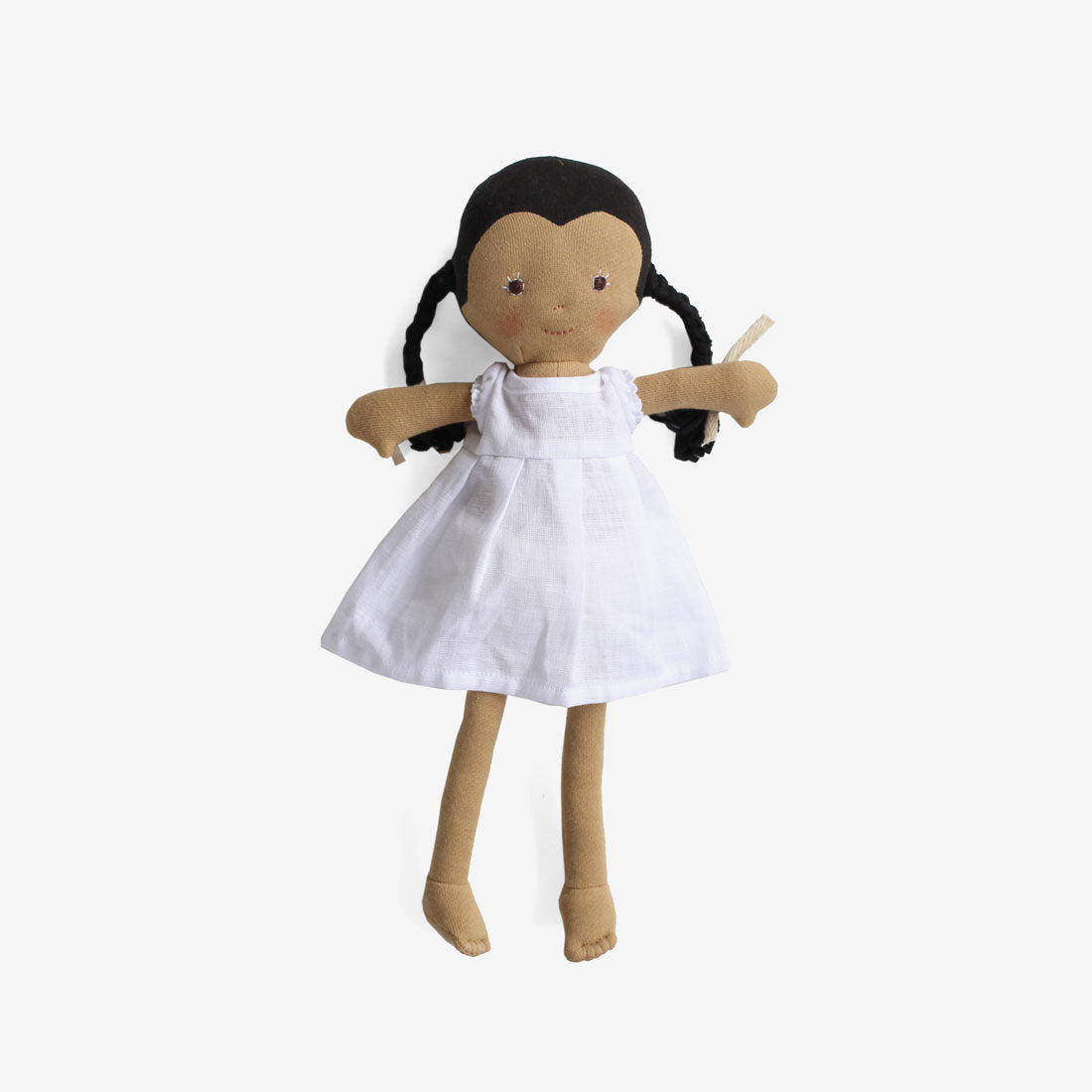 Celia Dolly in White Linen Dress