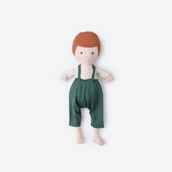 Charlie Doll in River Green Overall