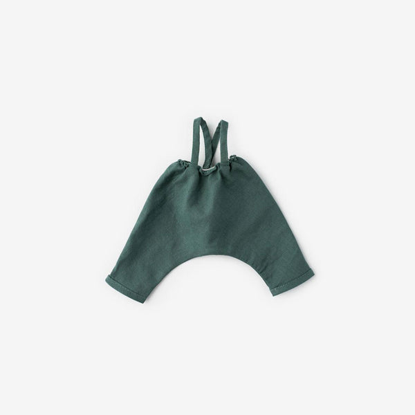 Dolly Overalls - River Green Linen