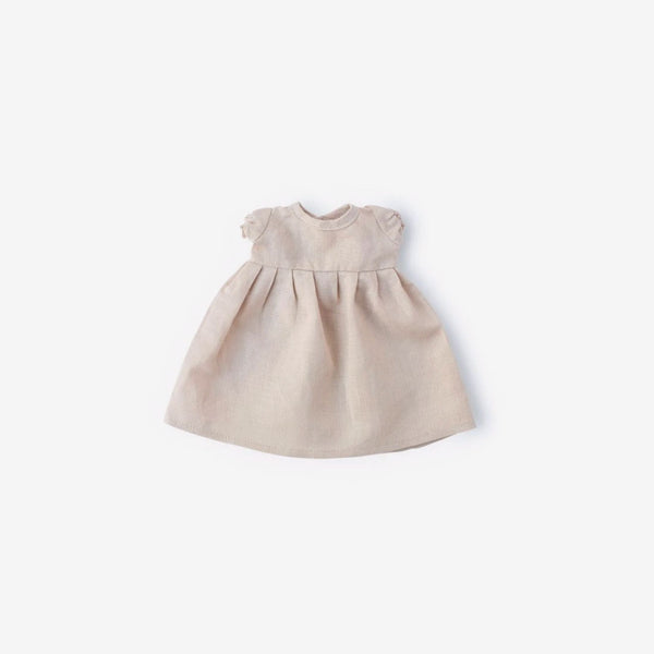 Linen Dolly Dress - Peachy Beige