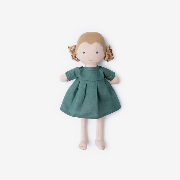 Fern Dolly in River Green Linen Dress