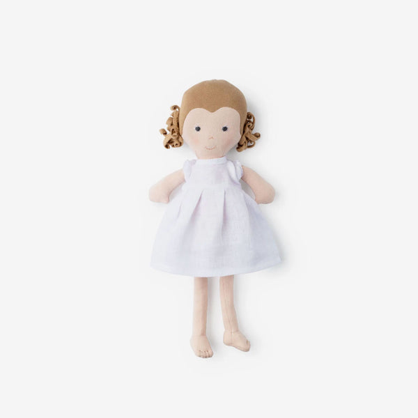 Fern Dolly in White Linen Dress