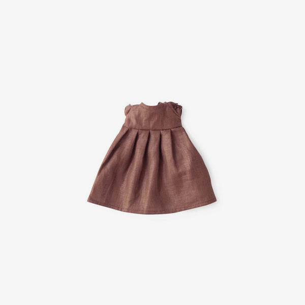 Linen Dolly Dress - Plum