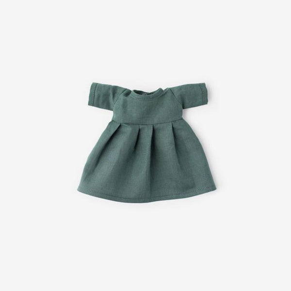 Linen Dolly Dress - River Green