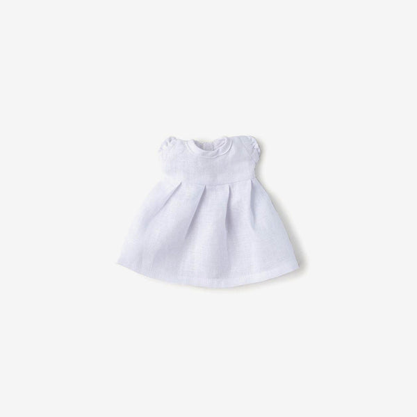 Linen Dolly Dress - White