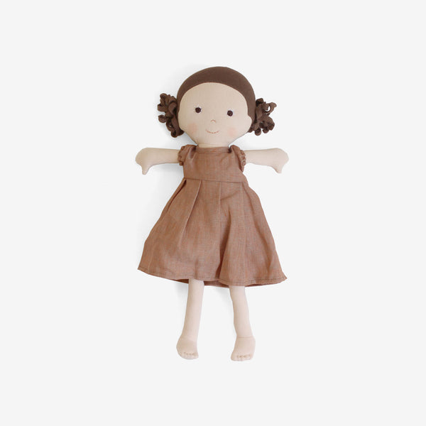 Louise Dolly in Clay Linen Dress