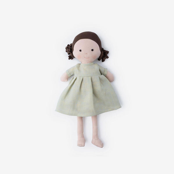 Louise Dolly in Dewdrop Linen Dress