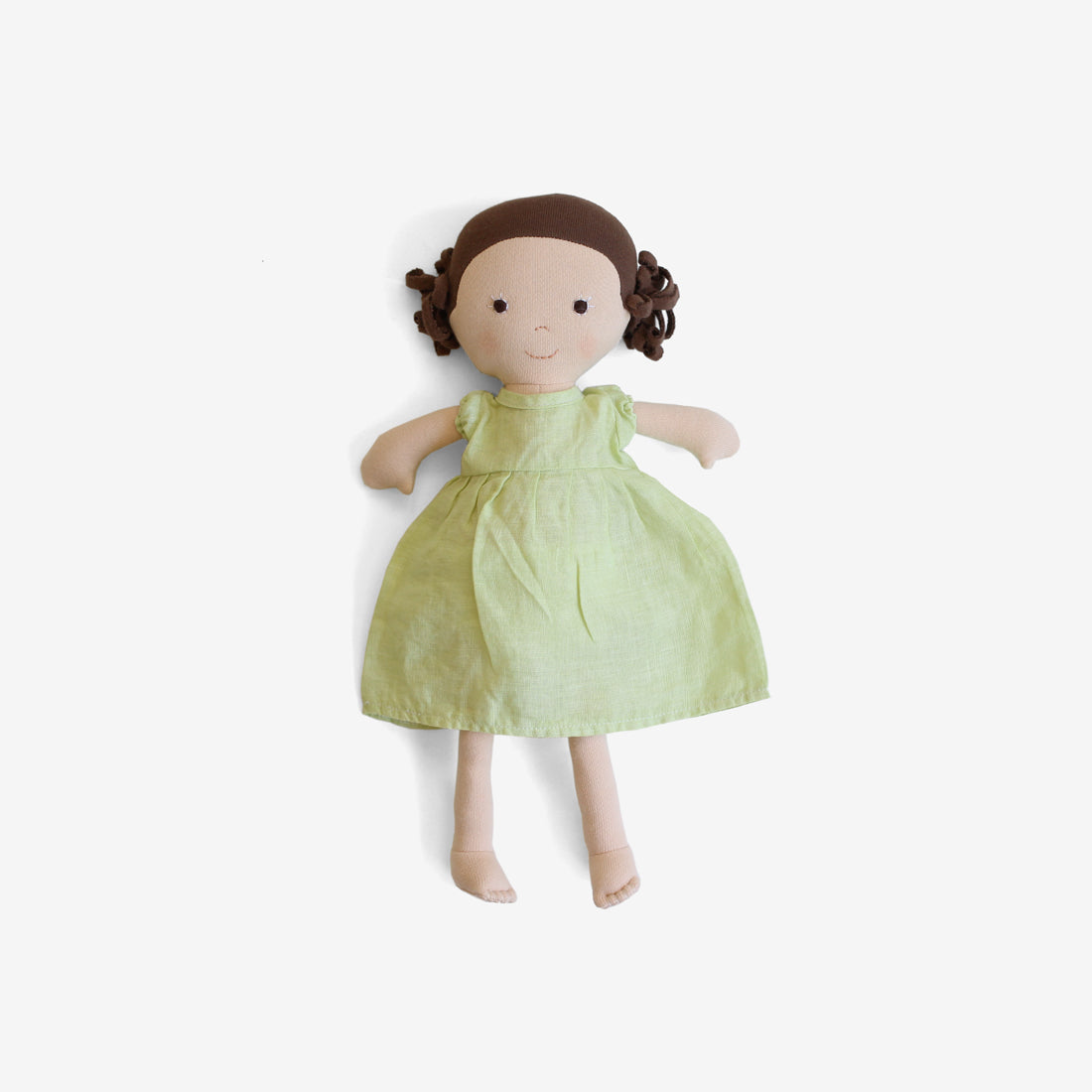 Louise Dolly in Honeydew Linen Dress