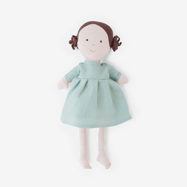 Louise Dolly in Egg Blue Linen Dress
