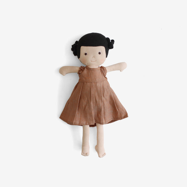 Nell Dolly in Pink Clay Linen Dress