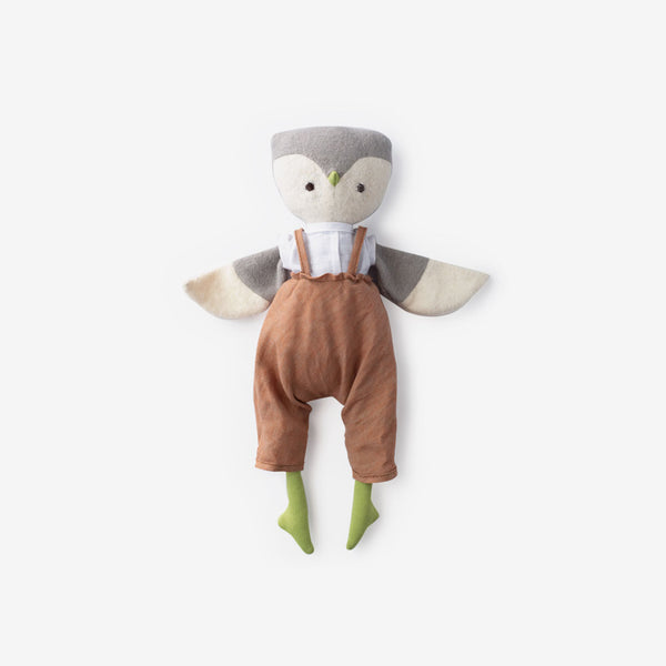 Jeremy Owl in Clay Linen Overall