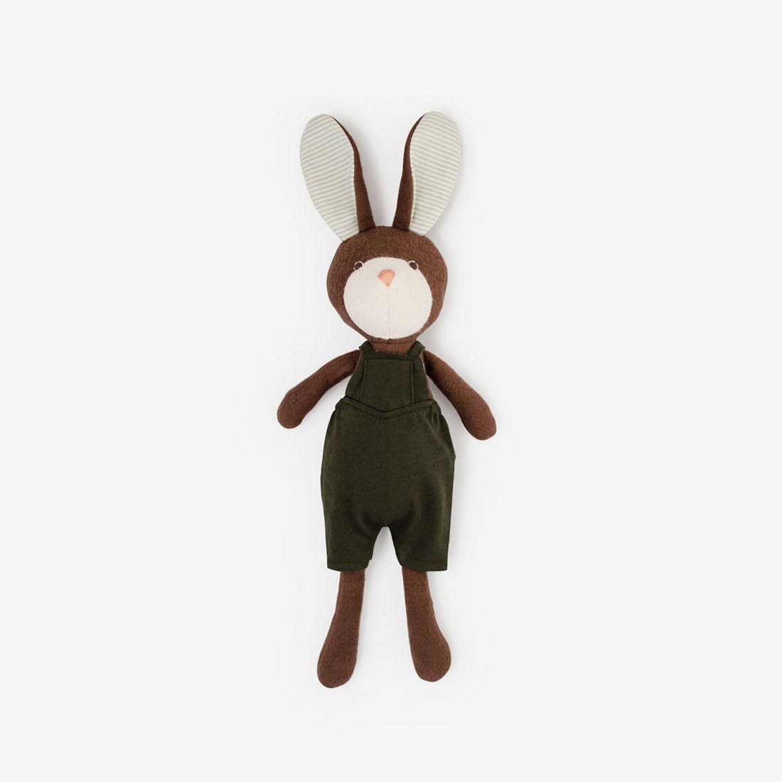 Lucas Rabbit in Loden Picnic Overalls