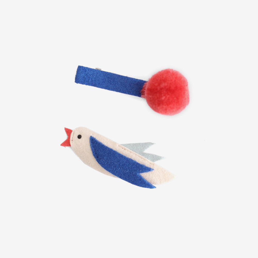 Birdie Pom Clips Set of 2
