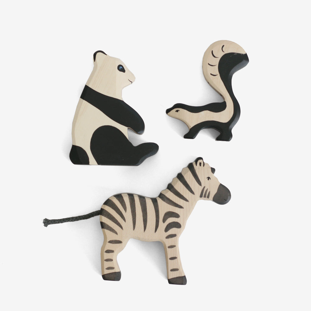 Holztiger Black & White Animals Set