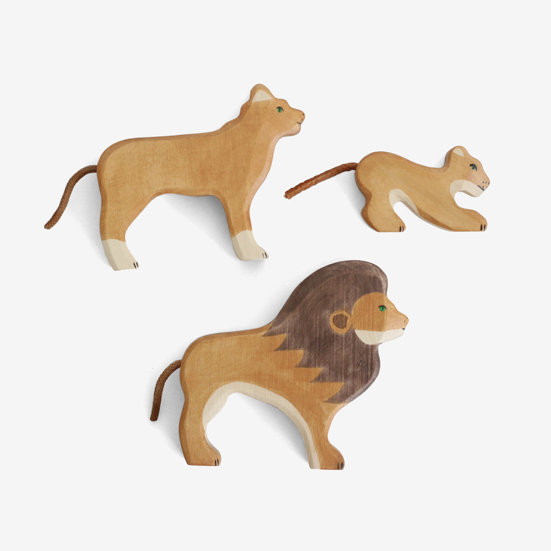 Holztiger Lion Family Set of 3