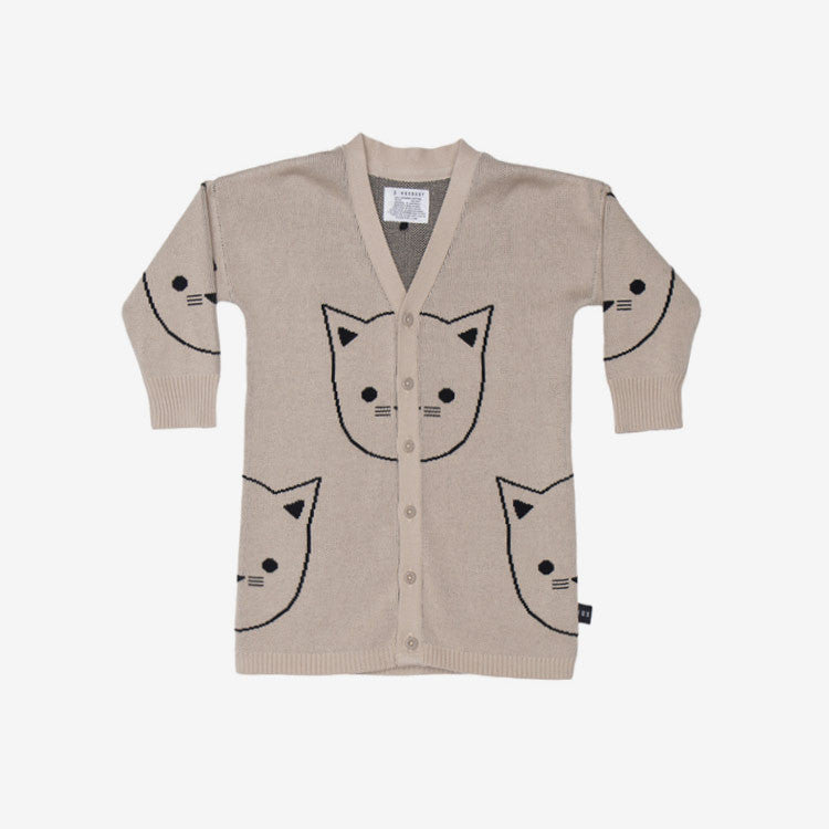 Hux Cat Organic Cotton Cardi