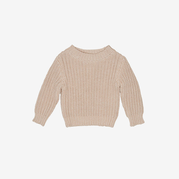 Chunky Knit Pullover - Biscuit
