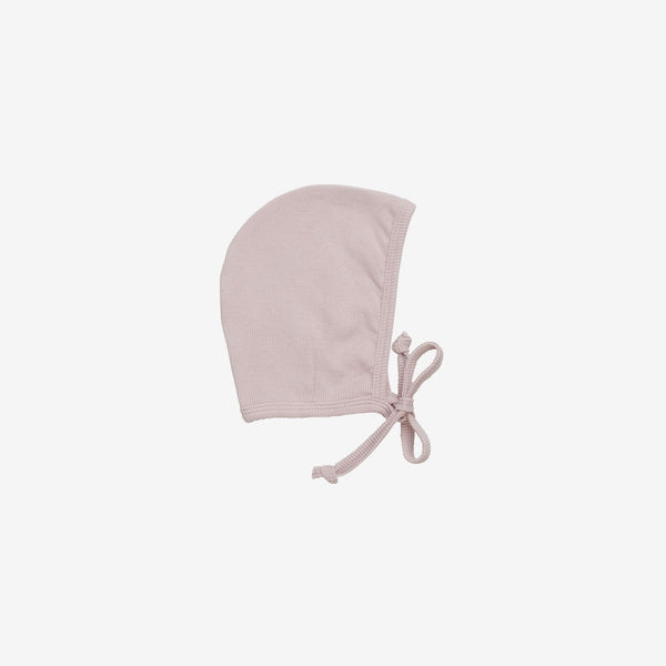 Organic Essentials Rib Bonnet - Blush