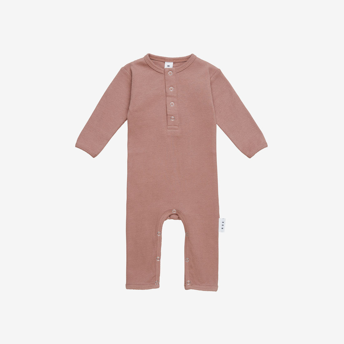 Organic Essentials Rib Romper - Ginger