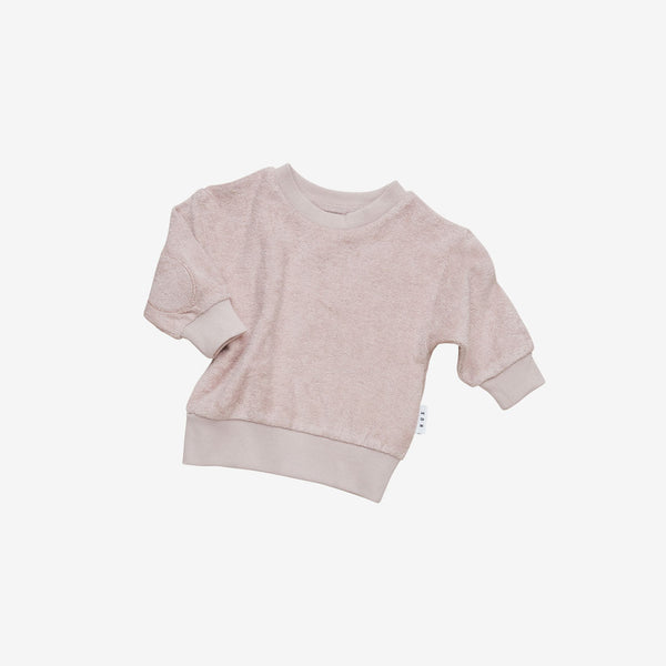 Organic Essentials Terry Sweatshirt - Blush
