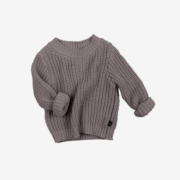 Chunky Knit Pullover - Stone