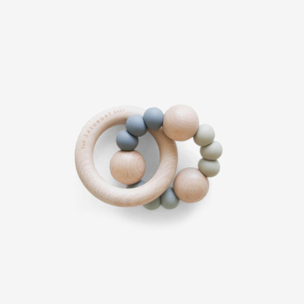 Silicone & Hardwood Teether Toy - Sea