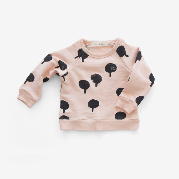 Tree Stamp Basic Sweatshirt - apricot
