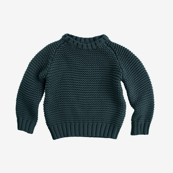 Crew Neck Sweater - Slate Green