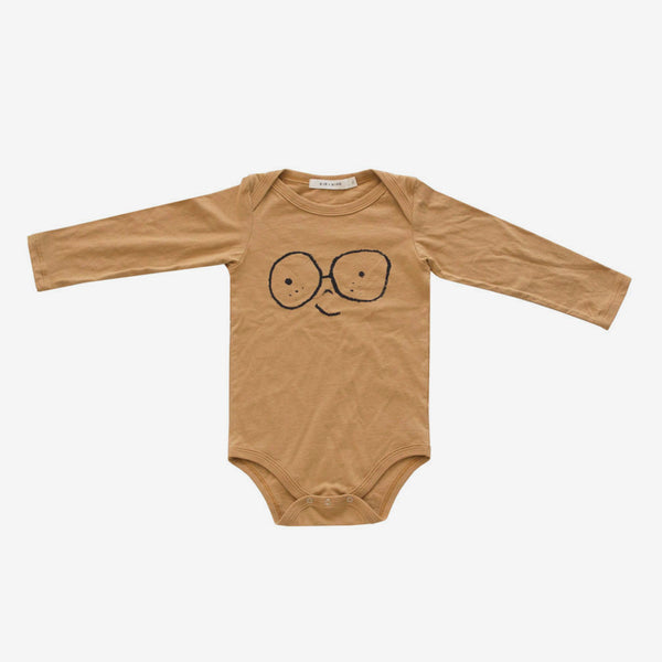 'Happy Face' Onesie - Golden