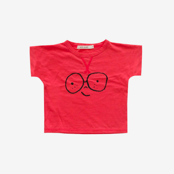 Happy Face Tee - Red