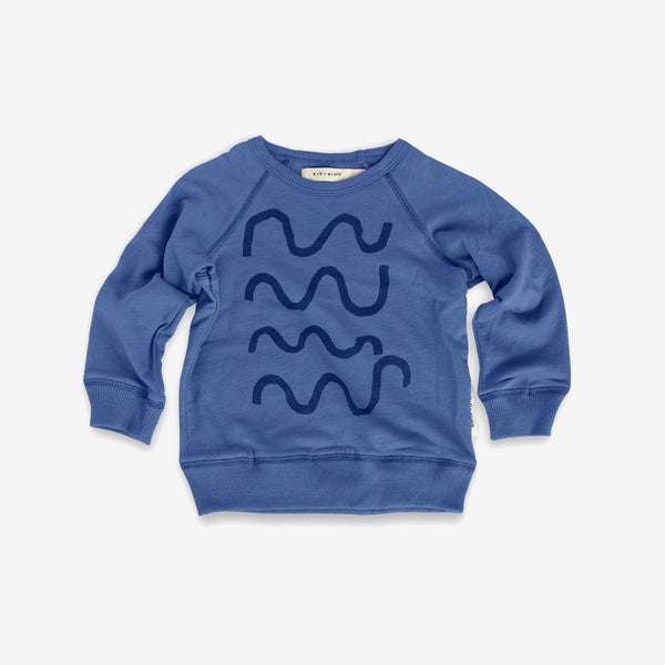 Swim Club Organic Sweatshirt - Blue