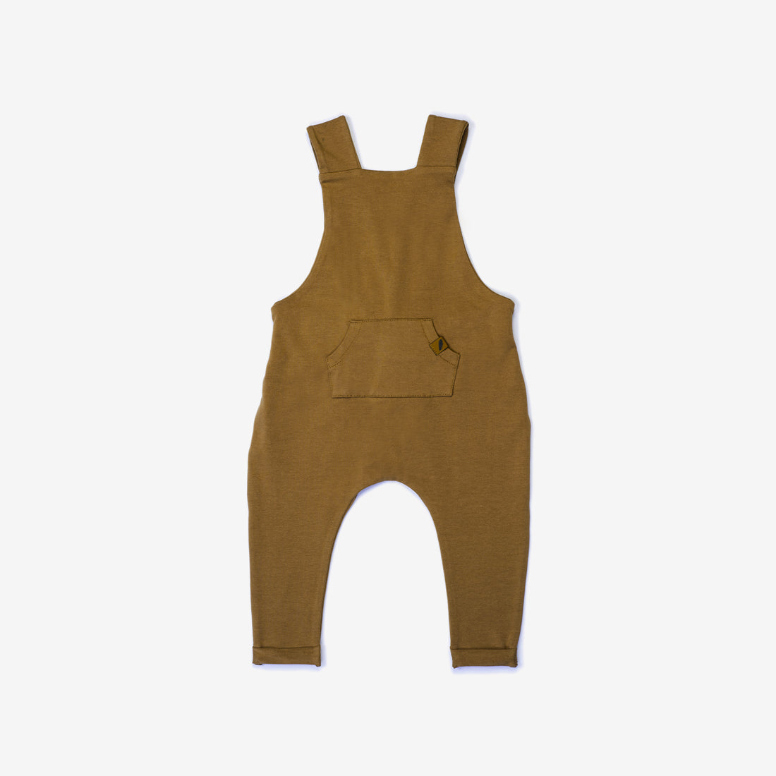 Organic Suspender Pant Overalls - Curry