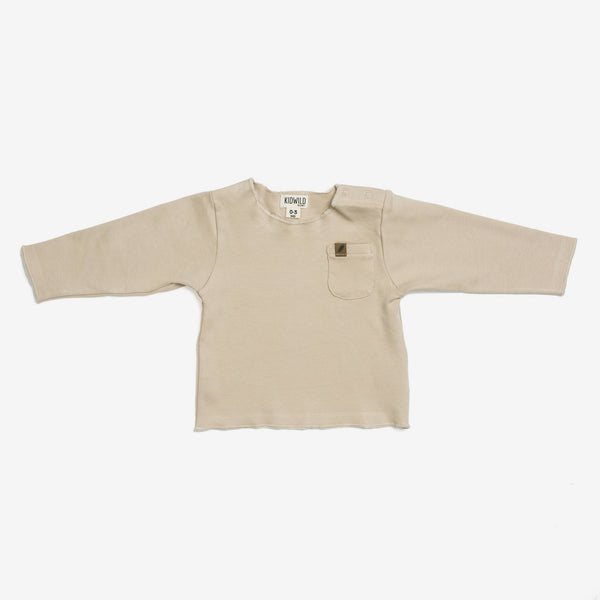 Organic L/S Pocket Tee - Latte
