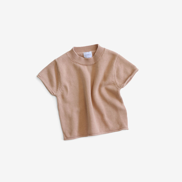 Fine Cotton Knit Top - Pink Earth