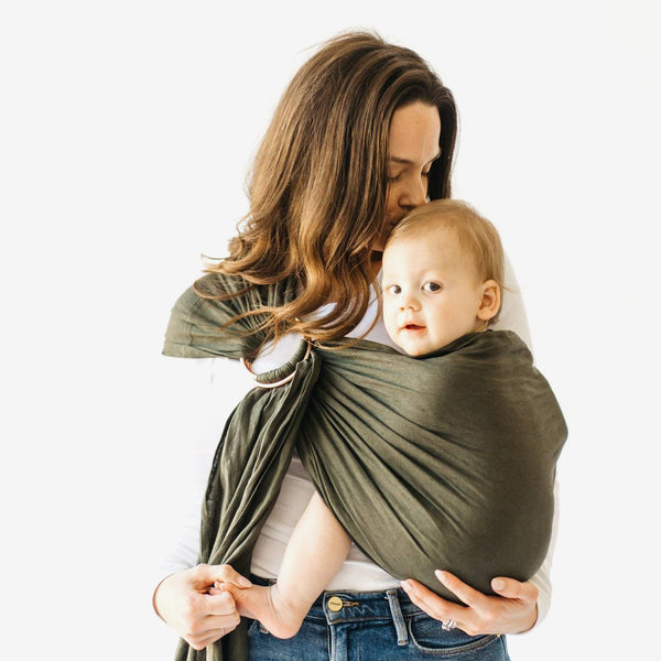 Linen Ring Sling - Evergreen