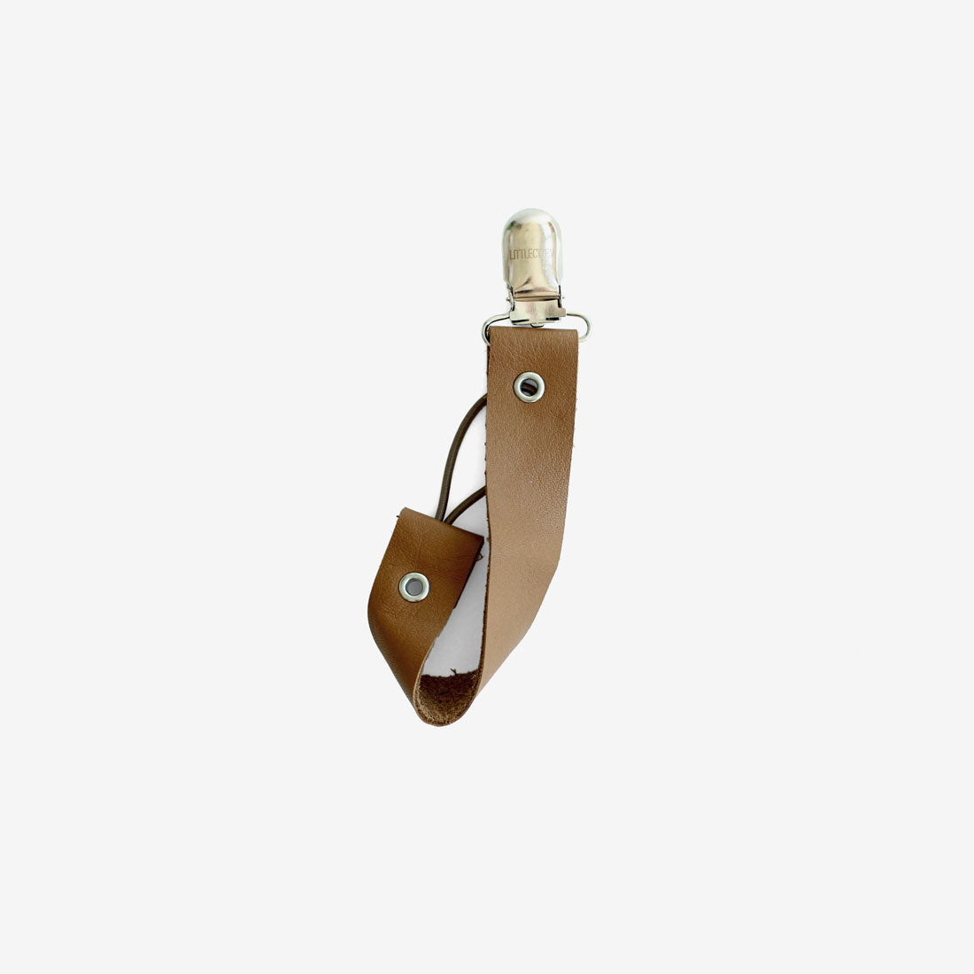 Leather Pacifier Holder - Fawn
